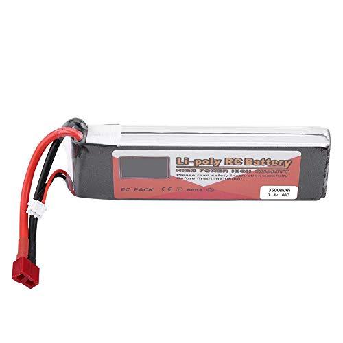 Batería RC LiPo, 2S 7.4V 2200mAh 5000mAh 3500mAh 5500mAh 4500mAh Batería con T-Plug Batería Recargable de LiPo(3500mAh 60C)