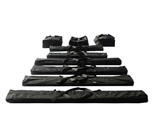 TOOLPORT Taschenset -Taschen Zelt- Gestängetaschen 6 m für Economy Zelte für Pavillon Partyzelt - 9 Stück Tragetaschen Transporttaschen