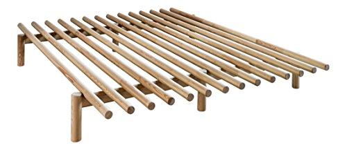 KARUP Kommune Frieden Bed Bett, Holz, natürliches Kiefernholz, 200x 160x 28cm