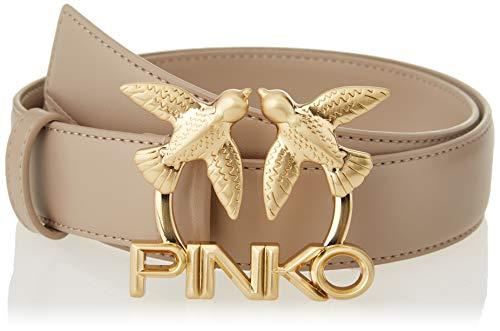 Pinko Love Berry Belt Rafia BR Cinturón, C40_beige Champagne, L para Mujer