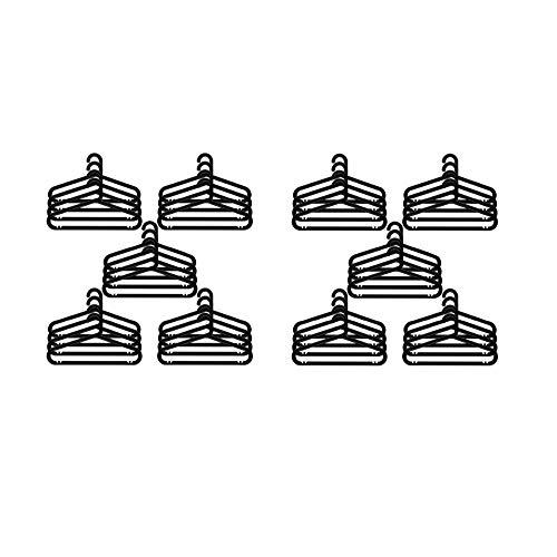 IKEA Robuster Kleiderbügel für den Innen- und Außenbereich, Schwarz, 40 Stück