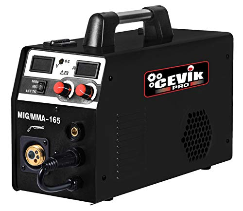 Cevik Promig165 Equipo de Soldadura Inverter multiproceso, Negro