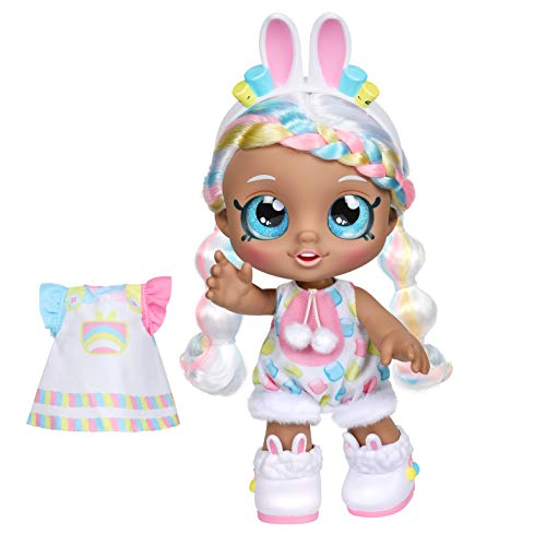 Kindi Kids Dress Up Friends - Pre-School Play Doll, Marsha Mello Bunny - for Ages 3+ | Changeable Clothes and Removable Shoes for Imaginative Kids - Doll Companion