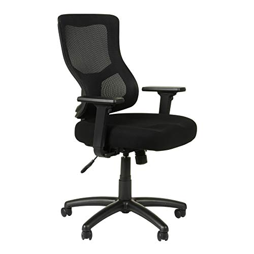 Alera Elusion II Series Mesh Mid-Back Synchro with Seat Slide Chair, Black
