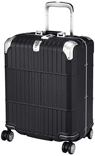 [エー・エル・アイ] スーツケース departure ハードキャリー 機内持ち込み可 保証付 38L 3.7kg レザーマットブラック