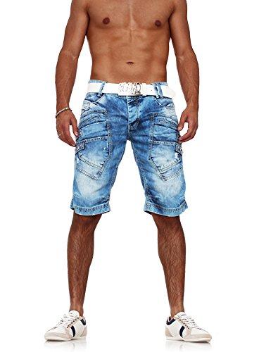 Red Bridge Jeans Demin Shorts Herren Kurze Hose Sweat Jeans-Short R31151 Blau W29