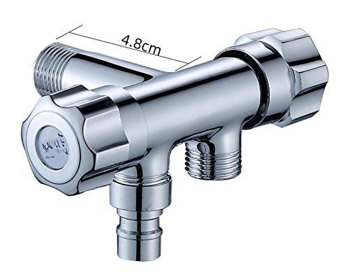 HTBYTXZ G1/2 Drieweg Driehoek Klep Een In Twee Uit Dubbele Water Hoek Klep Wasmachine Toilet Stop Klep Multi functie Tap