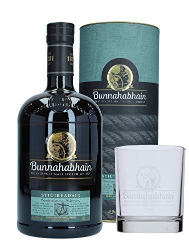 Bunnahabhain Stiureadair Islay Single Malt Scotch Whisky mit Glas, 0,7 L