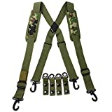 Melo Tough Tactical Suspenders , Police Suspenders For Duty Belt with Padded Adjustable
