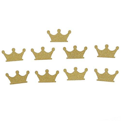 Healifty 100pcs Couronne décorations de Table de confettis pour Prince Princesse fête Mariage Premier Anniversaire Baby Showers Articles Fournitures (Or)