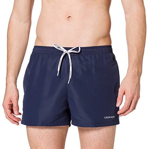 Calvin Klein Short Runner-Packable Costume a Pantaloncino, Iris Nero, M Uomo