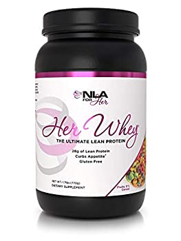 NLA Her Whey Protien  Fruity O s Cereal  - 2.2 lbs - Lean Whey Isolate for Women- w Aminos & Vitamins Recovery Builds Lean Muscle Curbs Appetite  30 21g Protein Servings or 18 XL 28g Servings