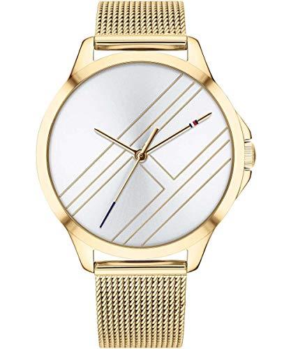Tommy Hilfiger Damen Analog Quarz Uhr mit Paqué or Armband 1781962