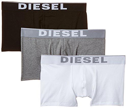 DIESEL Herren UMBX-KORY Boxershorts, 3er Pack, Mehrfarbig (Black/Grey/White 04), Small (Herstellergröße: S)