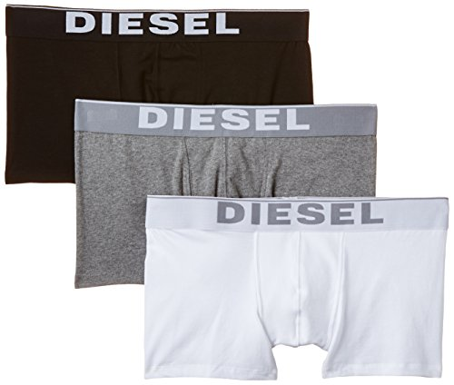 DIESEL Herren UMBX-KORY Boxershorts, 3er Pack, Mehrfarbig (Black/Grey/White 04), Medium (Herstellergröße: M)