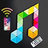 Koozam Smart Wall LED Light Panels   Create Customized Art Wall Decor & Watch As The Sound Activated Tiles Change Color with Music   WiFi Lighting Lamp Kit Compatible with Alexa Google Home
