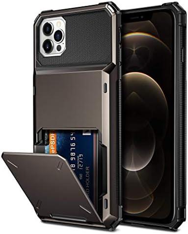 Vofolen Compatible with iPhone 12 Pro Max Case 5G Wallet 4 Card Slot Credit Card Holder Flip product image