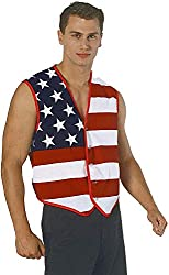 Anti trump rally gear Flag Hero Vest