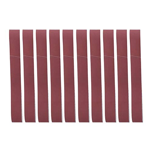 10PCS Alumina Abrasive Sanding Belt, Sander Parts, Sanding Band, Grinding Polishing Tool Accessories, 740 x 40mm for Furniture Woodworking(600 Grit)