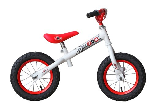 ZUM SX Red & White Balance Bike Cycling Bicycle Kids Sport Balance Bike for Toddlers 3 4 and 5 year old glider style no pedals balance bike for 2 year old