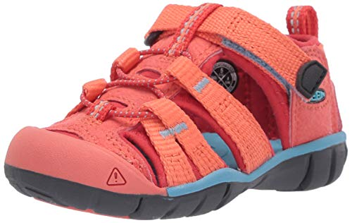 Keen Unisex-Kinder Seacamp Ii Cnx Sandale, Coral/Poppy Red, 32/33 EU