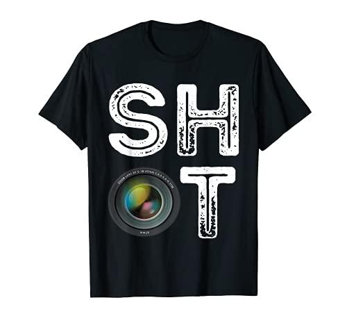 Fotógrafo Shot Cámara Foto Lente Fotografía Amante Camiseta