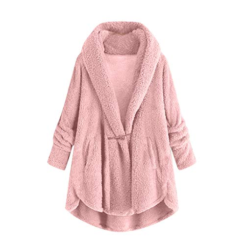 Women Boho Long Sleeve Open Front Knit Cardigan with Pockets Bohemian Knitted Sweater Outwear Coat Tops Rain Jacket Women Outdoor Travel Windbreaker Waterproof Sports Raincoat Pink
