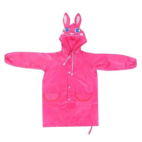 Children Cute Cartoon Waterproof Hooded Rain Coat Kids Student Rainwear Outwear Hooded Poncho Rain Cape for Boys Girls(2#)