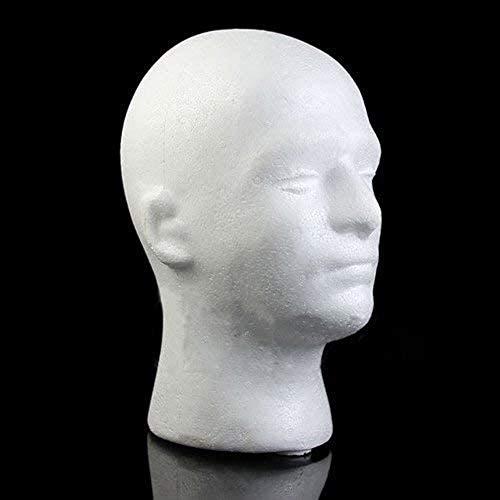 Mannequins de couture reglable Perruque, Mannequin Homme Mannequin Modèle de tête Perruque Lunettes portemanteau Shop Display Retail & Home Porte vêtement Mannequin (Color : White)
