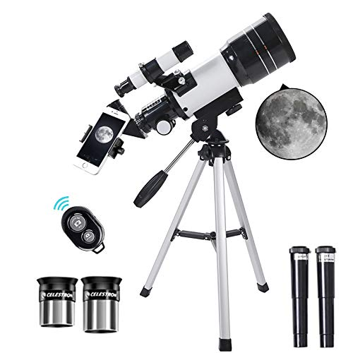Astronomy Telescope for Kids Adults Beginners,70mm Aperture Astronomical Telescope Refractor Tripod Finder for Camping And Stargazing to Observe Moon and Planet in The Wild, Best Telescope Gift