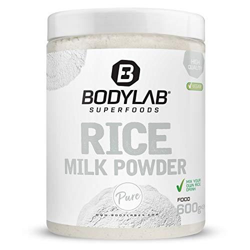 Bodylab24 Rice Milk Powder 600g / zu 99,8{5931ccc549a07eb9fa56b1d9b62b60b45711c59e18345e8a0a21fcc58cc4bda1} aus Reis hergestellt (+ 0,2g Salz) / veganer Drink zur Kohlenhydratversorgung / ideal als Milchersatz im Müsli, Smoothie oder als Zusatz zum Proteinshake