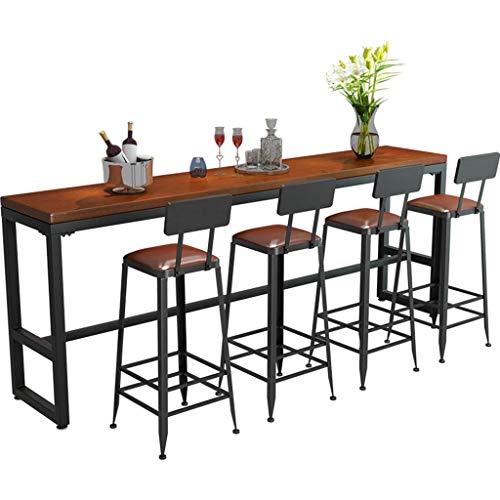 ZHJBD Meubilair Kruk/Barkruk Set van 4, Industrieel Rustiek Indoor Outdoor Counter Hoogte Bar Kruk, met Rugleuning en Metalen Benen, Gestoffeerde Zithoogte 29.5inch