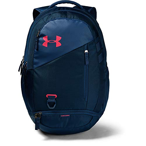 Under Armour Hustle 4.0 Backpack, Academy (410)/Watermelon, One Size Fits All