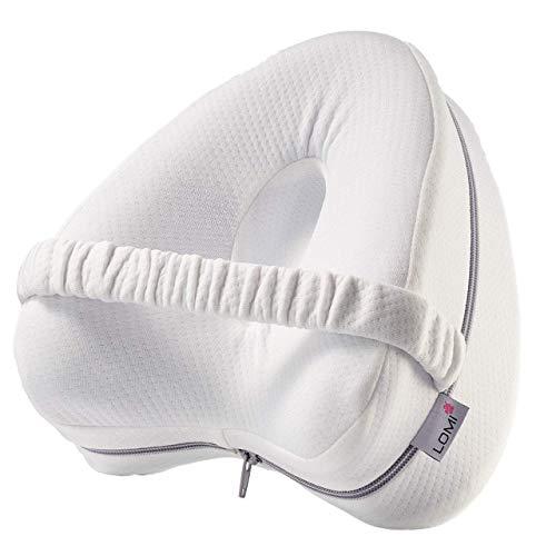LOMI Leg Pillow ergonomisches Seitenschläferkissen Schlaufe Memory Foam Orthopädisches Kissen Knie-Kissen optimaler Liegekomfort waschbarer Bezug Kissen für Seitenschläfer Schlafkissen Druckentlastend
