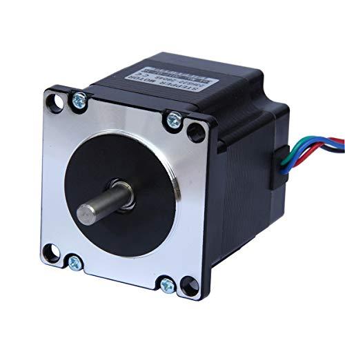 UEETEK Motor NEMA 23,Motore passo-passo, motore 2,8 A 1,26 Nm passo-passo per stampante 3D, per lavorazioni CNC, per il fai-da-te