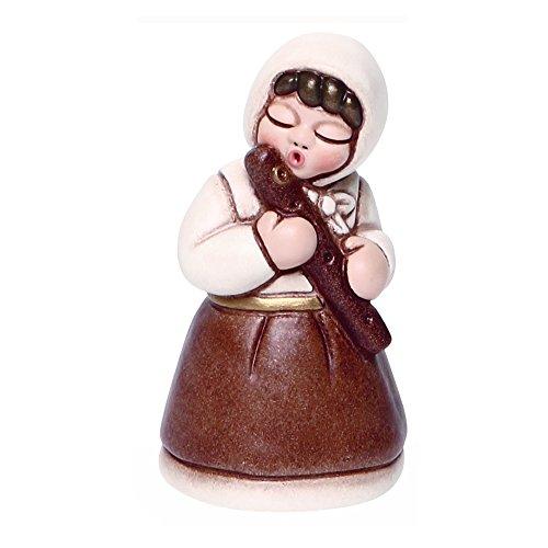 THUN® - Donna con Flauto - Versione Bianca - Statuine Presepe Classico - Ceramica - I Classici