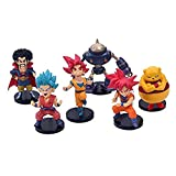 No WEIbeta 6 Unids/Set Anime Dragon Ball Z Goku Super Saiya Pelo Azul Majin Buu Sr. Satan Trunks Linda Figura de Acción DBZ PVC Modelo de Juguete 10cm