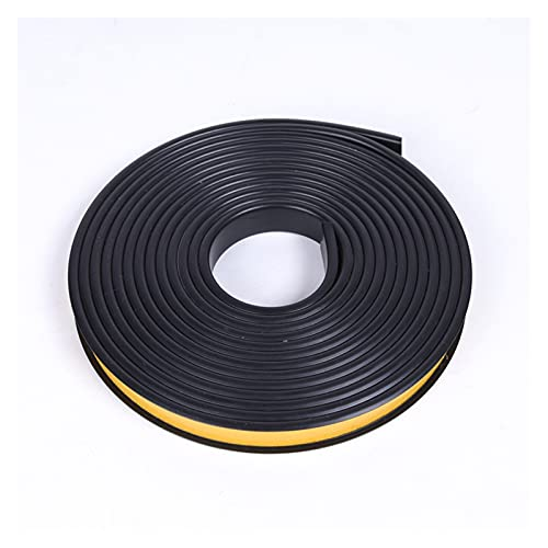 Youpin 1 m Auto Adhesivo U Edge Banding Furniture Web Board Board Cabinete Escritorio Edge Guard Strip Decoration PVC Edge Cinta (Color : Black, Size : 18mm)