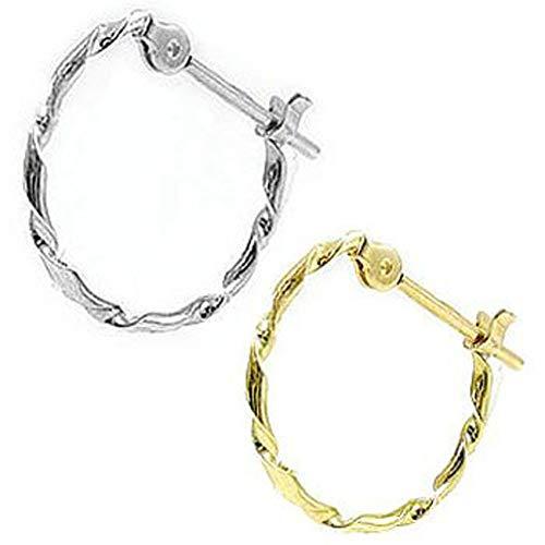 [アトラス] Atrus ピアス メンズ ペア 片耳 pt900 プラチナ900 18金 イエローゴールドk18 フープピアス カップル 宝石