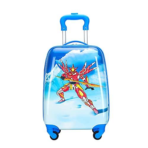 SHJKL Maleta para Niños De Dibujos Animados, Suitcase Lindas para Niños Y Niñas, Equipaje Liviano De Cáscara Dura con 4 Ruedas, 18 Pulgadas, Adecuado para Viajes Y Salidas,Cartoon 10