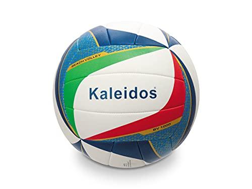 Mondo Sport 13678 - Pelota de Voleibol de Playa de Voleibol BV-1000, Talla 5, para Interior y Exterior, Piel sintética, Tacto Suave, Color Blanco, Rojo, Verde, Azul