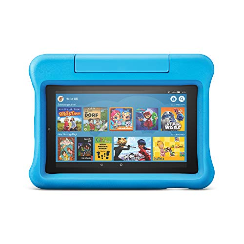 Fire 7 Kids Edition-Tablet, 7-Zoll-Display, 16 GB, blaue kindgerechte Hülle