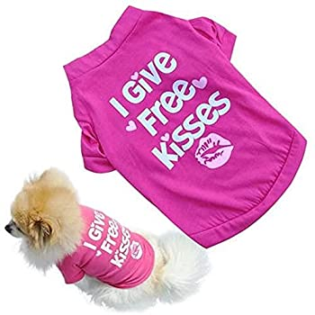 Dog Shirt Small Puppy T-Shirt Cute Hot Pink Funny Phrase Pet Apparel Top Casual Pet Clothes Adorable Dog Casual Summer Blend Outfit  S Pink
