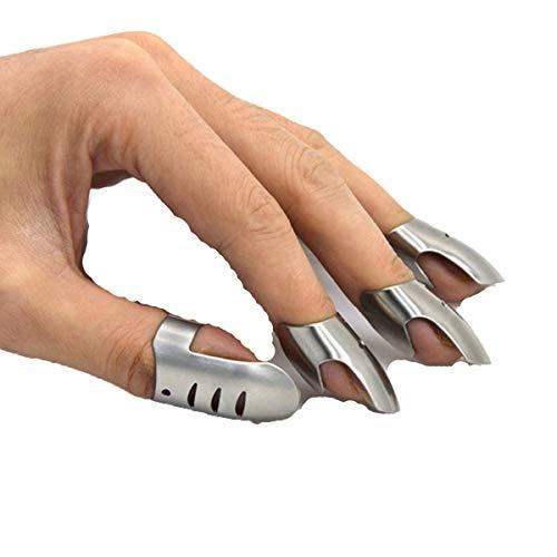 4 stücke Küche Edelstahl Fingernagel Beschützer Hand Cut Guard Sichere Scheibe Messer Werkzeug