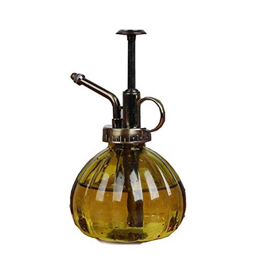 OWIKAR Verre Arrosoir Pot de fleurs vintage en forme de citrouille en cuivre Buse d'eau Flacon pulvérisateur de jardin en fleurs d'eau Peut Bouteille pour Office Home Garden Green