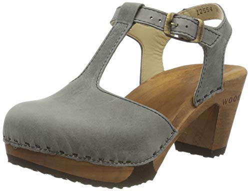 Woody Damen Carolin Clogs, Grau (Jeans 090), 41 EU