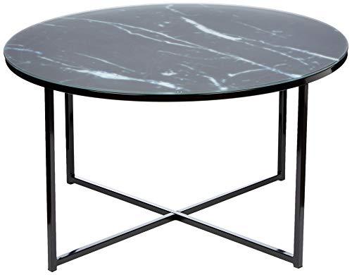 Amazon Brand - Movian Rom - Mesa de centro, 80 x 80 x 45 cm, negro