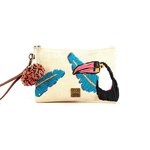 For Time Bolso de mano tucán - Borse da spiaggia Donna, Marrone (Natural), 1x43238x43247 cm (W x H L)