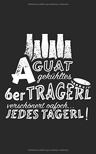A guat gekühltes 6er Tragerl Bier: Notizbuch / Notizblock - 100 Seiten - kariert