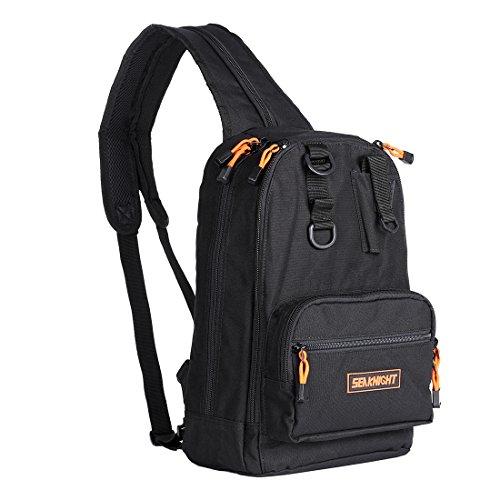 SeaKnight Waterproof Outdoor Fishing Tackle Bag Single/Double Shoulder Multi-Purpose Backpack 4 Layer 1000D Nylon Fishing Bag